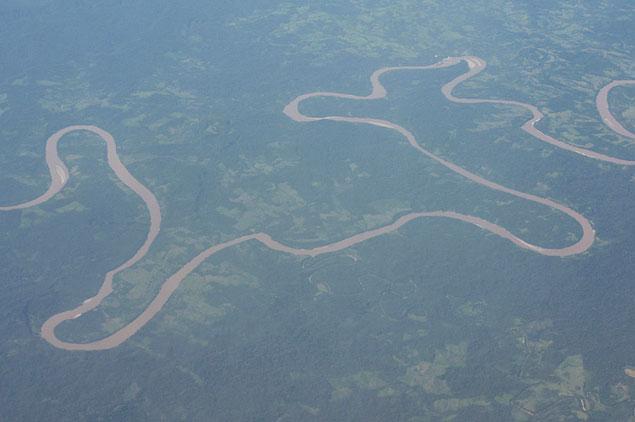 Вид на амазонку с высоты птичьего